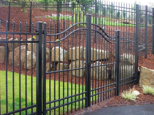 Ornamental decorative metal wrought iron fence