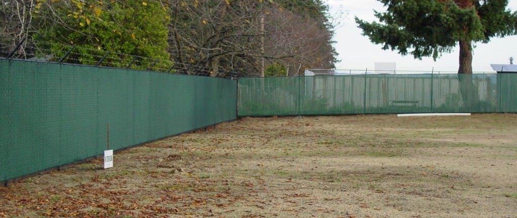 Chain link fence slats ornamental vinyl quotes