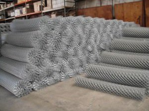 Large Piles of Chain Link Fence