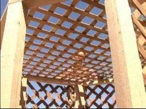 Lattice Wood Gazebo Roof