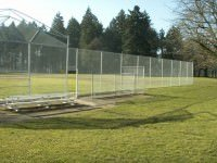 large security chain link fence