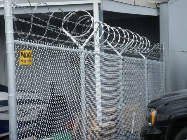 Security chain link fence with top wire pacific