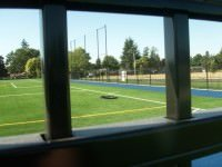 soccer field backstop
