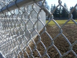 close up chain link fence