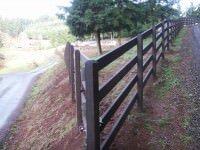 tall wood custom fence