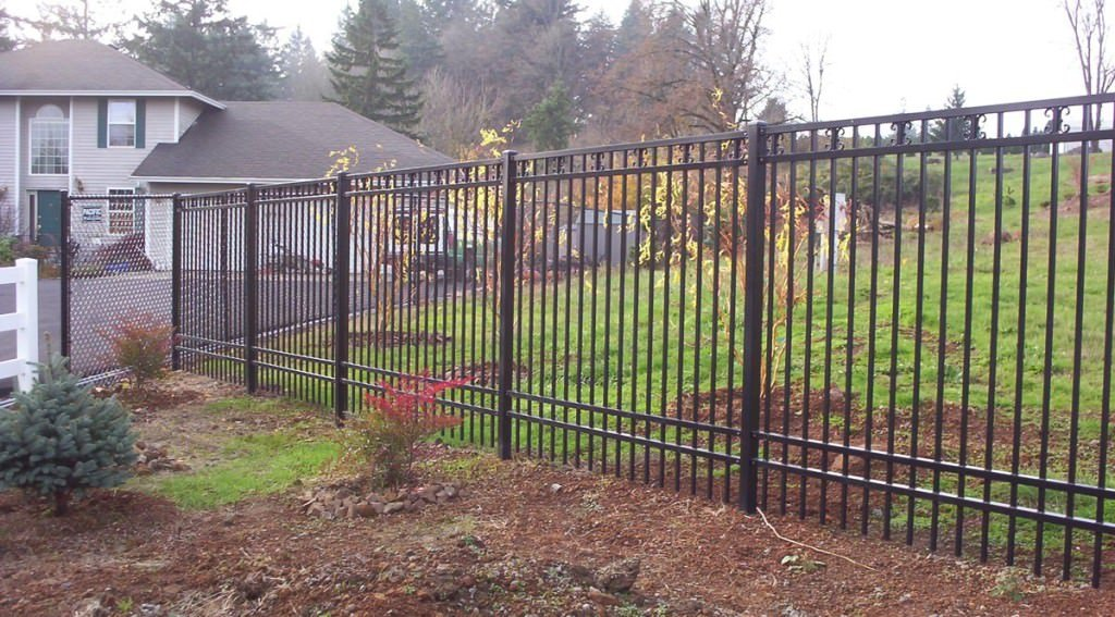 Pictures Of Installed Ornamental Fences Portland Oregon