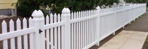 Check out this white picket fence. How to measure your yard for a fence.