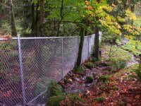 Chain Link fence in Portland. Also called a cyclone fence.