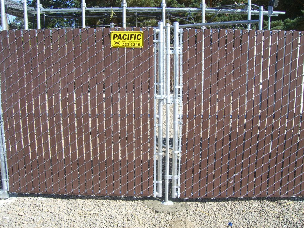 Chain Link Fence Slats Brown