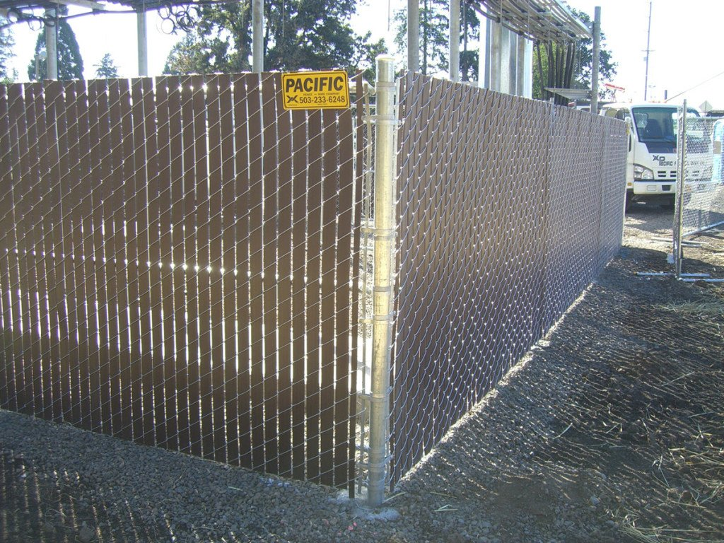 Chain Link Privacy Fence Gallery Pacific Fence And Wire