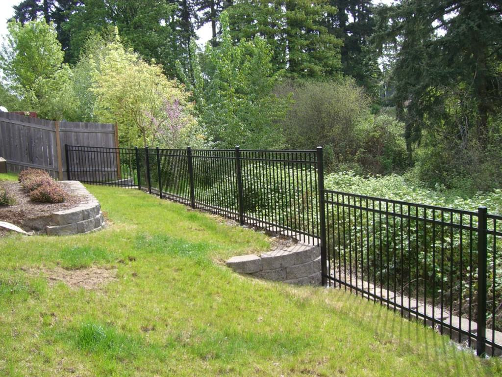 Pictures Of Installed Ornamental Fences Portland Oregon