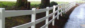 Split Rail Vinyl Fence