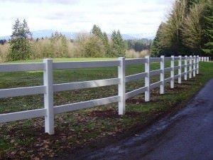Vinyl White Fence