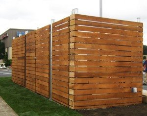 Custom Concealed Fence with fresh stain
