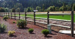 Wood Rail Fence