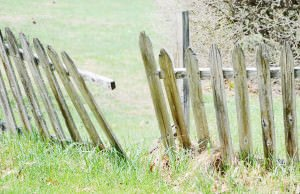 A broken fence should be repaired as soon as possible.