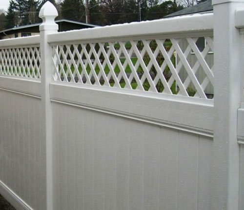 How to clean a vinyl fence.