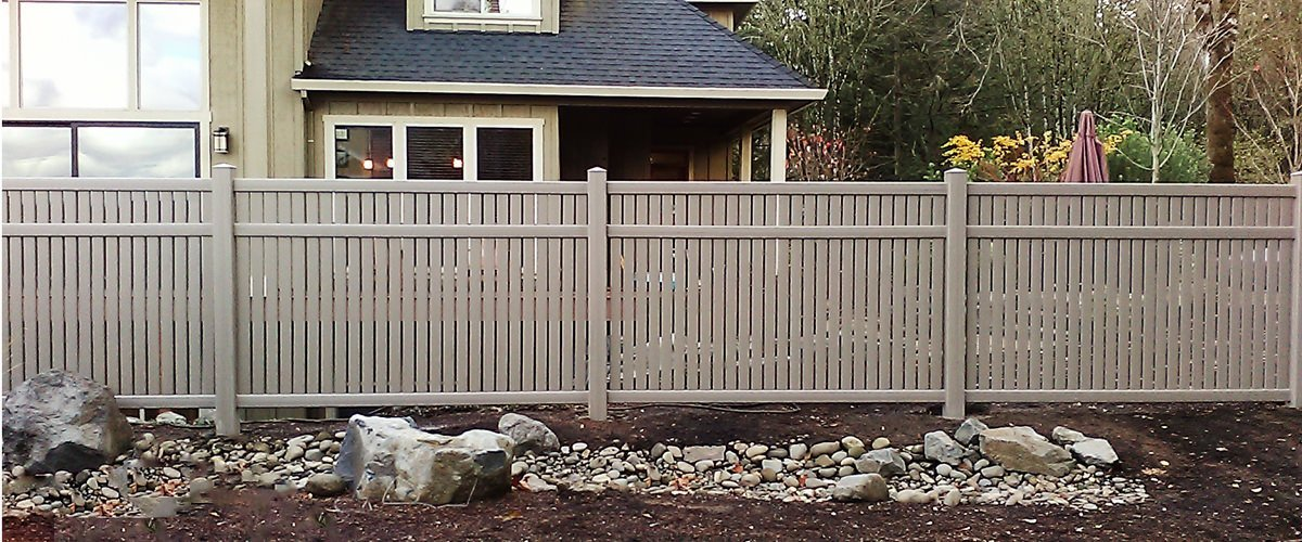 vinyl fence in a Portland home