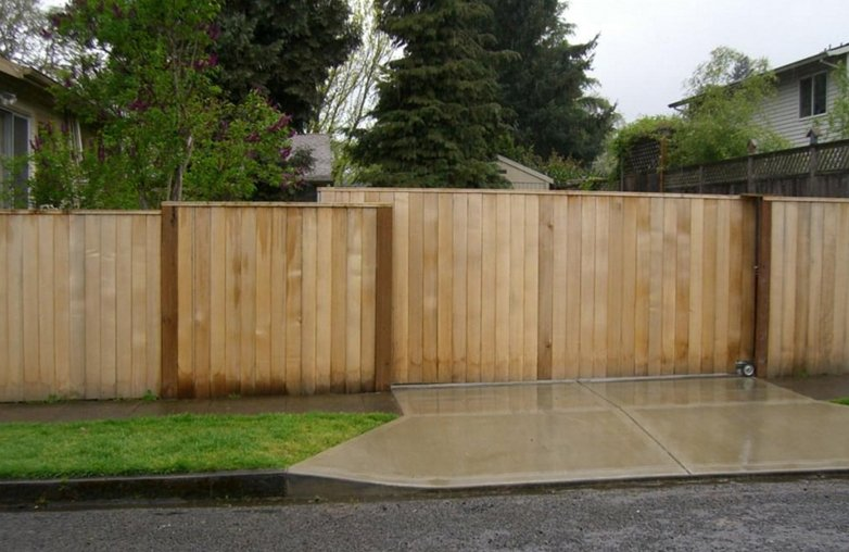 Driveway gates add security and style.