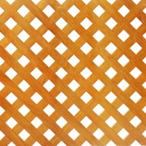 Wooden lattice on white background.