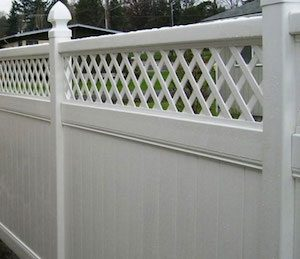 Vinyl fence with trim in Portland OR