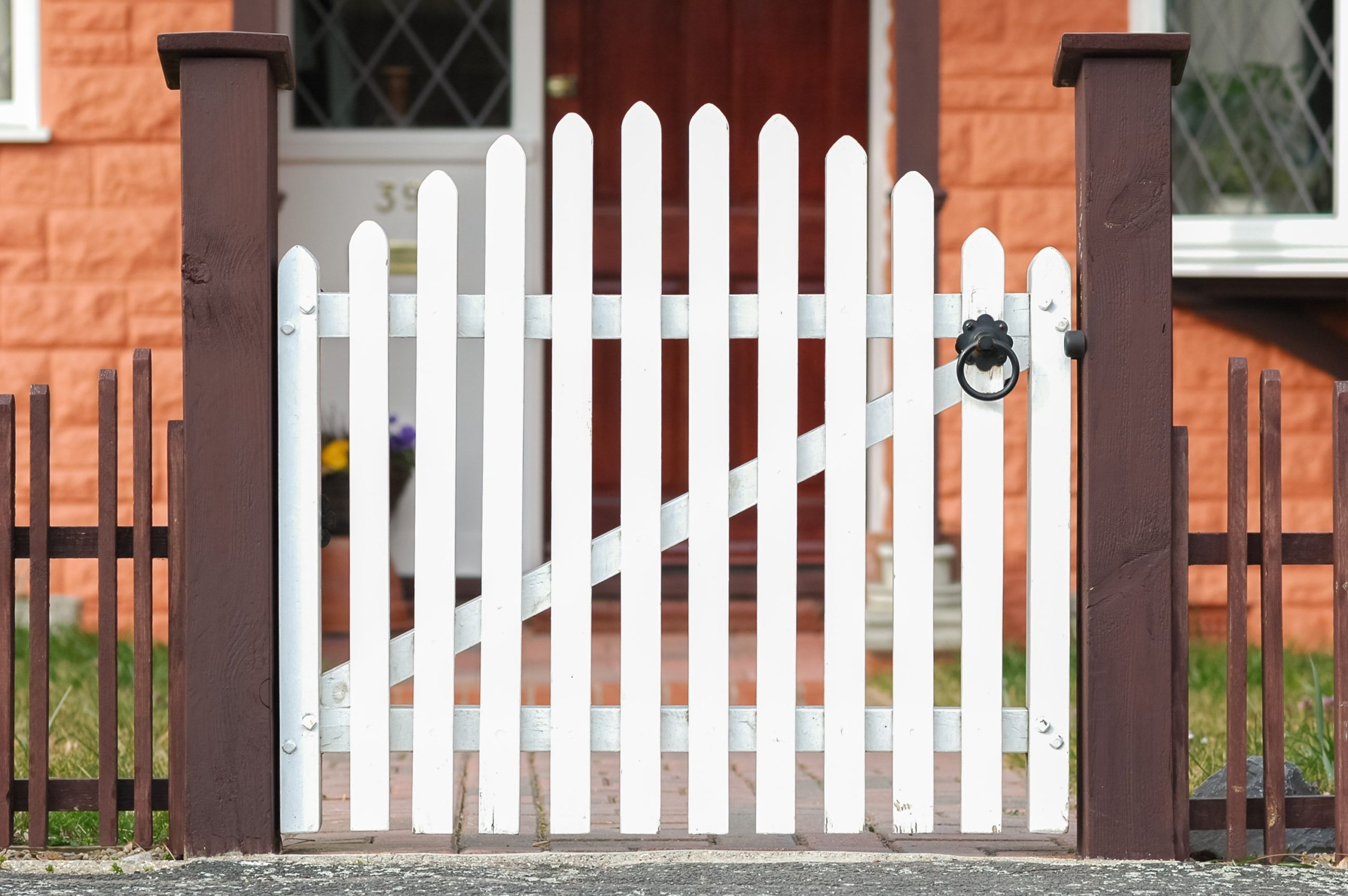 gate for white picket fence