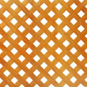 Wooden lattice on white background.