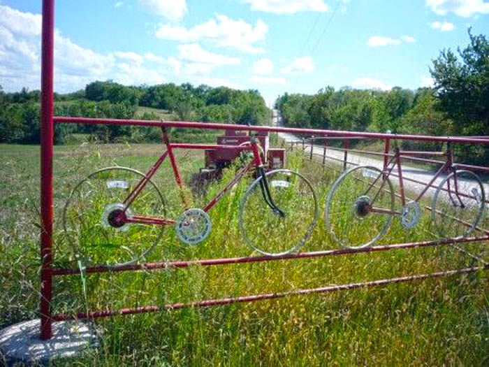 bike-frames-in-fence