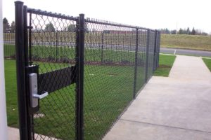 How to install a chain link fence.