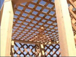 Lattice Wood Gazebo Roof