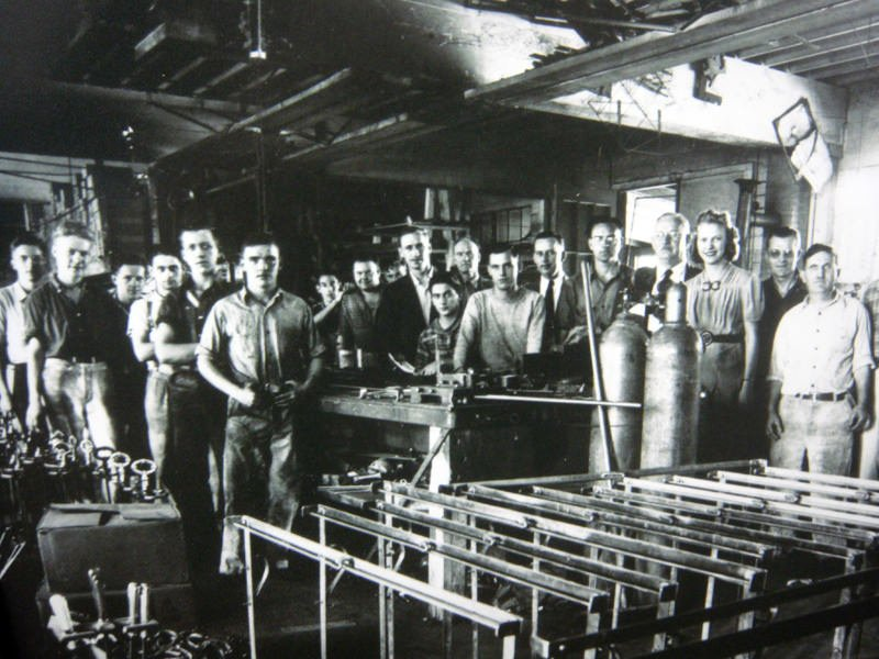 Pacific Fence Since 1921 - This photo is black and white and from the early days of the company