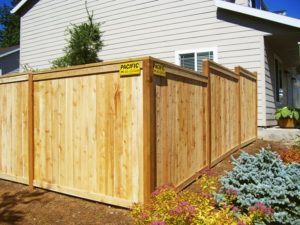 Wood Fence Picture Frame Style installed in Portland OR